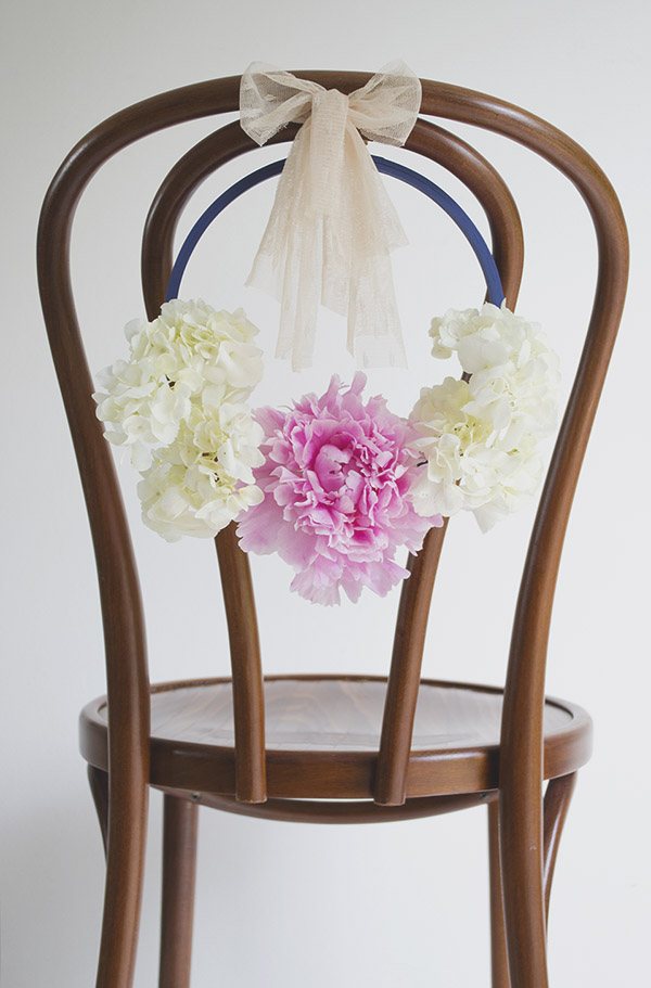 Floral Hoop Wedding Chair Back DIY TiffGrantRiley