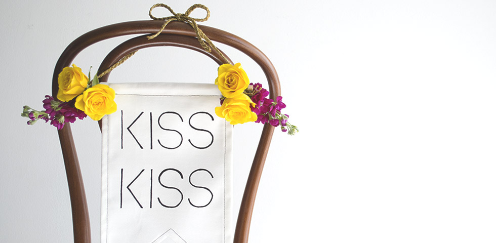 KissKiss Wedding Chair Back DIY Slider TiffGrantRiley