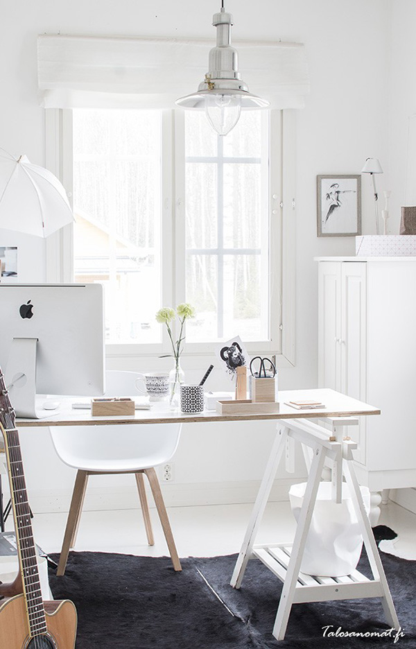 All White Workspace Talosanomat Blog
