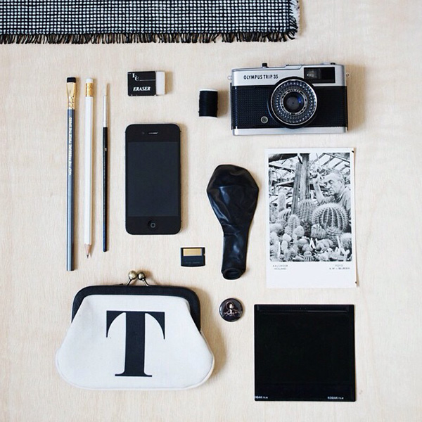 Monochrome Workspace Moodboard Curate & Display
