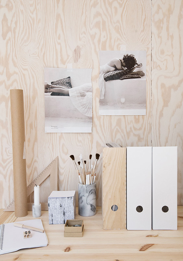 Plywood workspace details