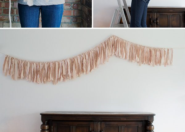 Avocado Dye DIY Fabric Garland