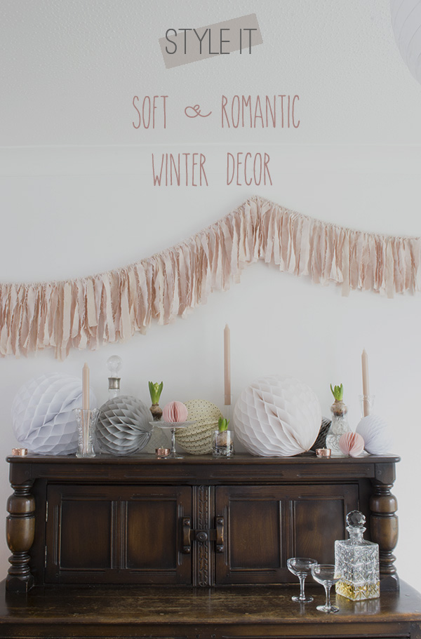 Soft, romantic winter decoration