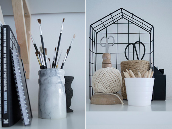 Office Workspace Makeover Curate and Display Blog Marble Pot
