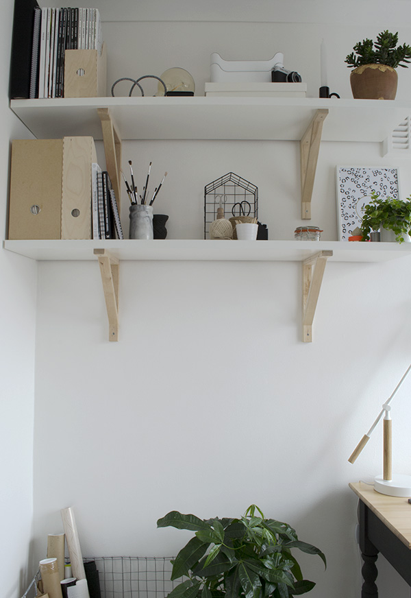 Office Workspace Makeover Curate and Display Blog Ikea Shelves