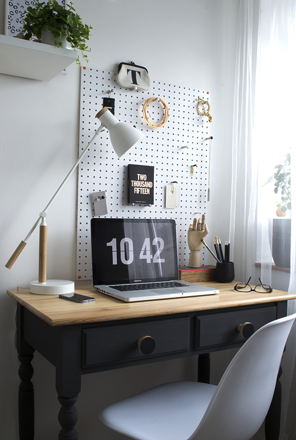 Office Workspace Makeover Curate and Display Blog Peg Board