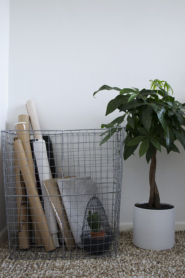 Office Workspace Makeover Curate and Display Blog West Elm Wire Basket