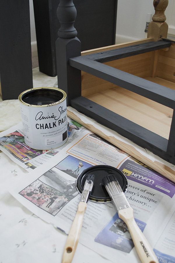 DIY Chalk Paint Pine Desk Curate & Display Blog