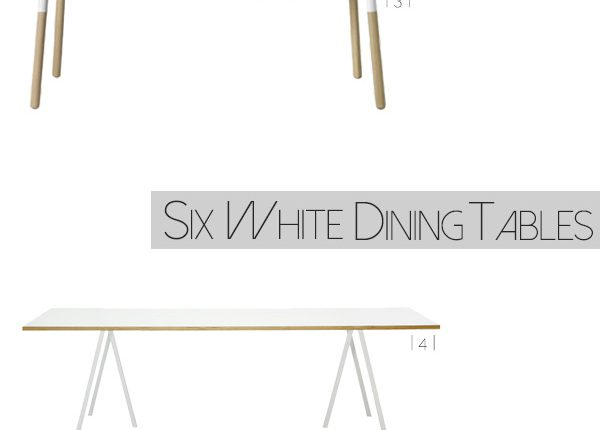 Six White Dining Tables