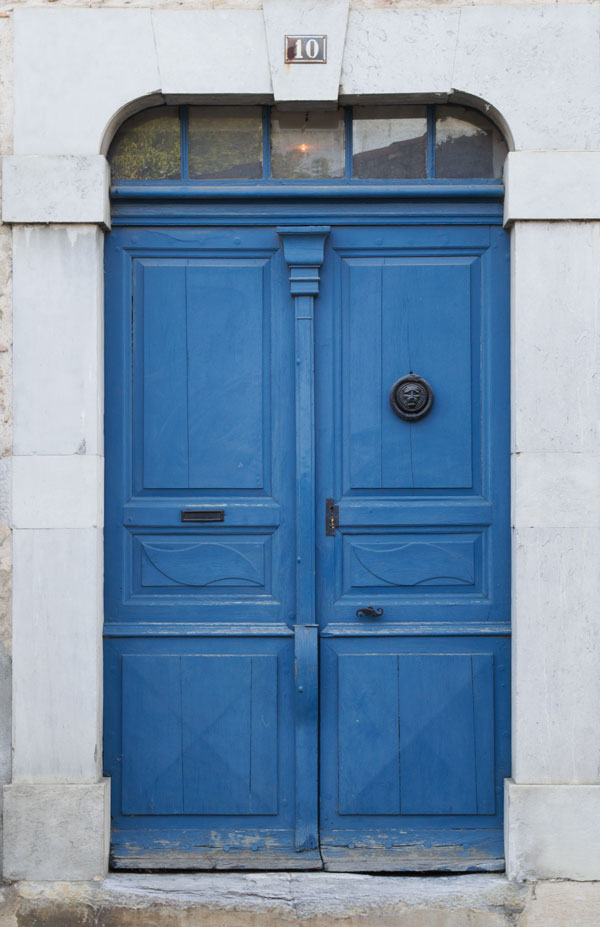 Marciac Midi Pyrenees South of France Rustic Blue Door