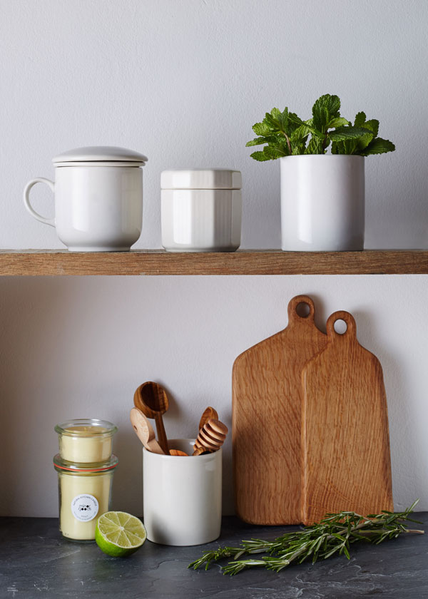 Minor Goods, an independent, understated homeware shop selling handcrafted accessories for the kitchen and home, wooden chopping board, candles and vintage kitchenware