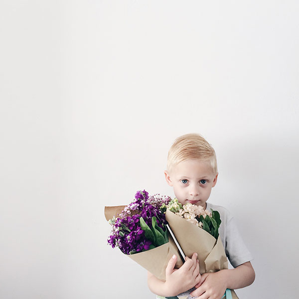 Boy with flowers - Curate & Display Instagram