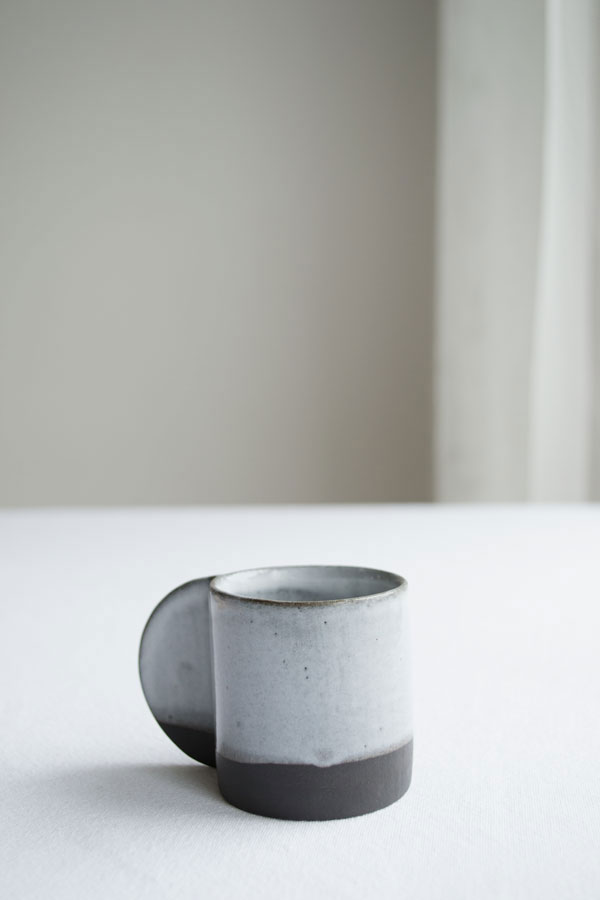 Coffee Break in Nina+Co Breakfast Collection espresso cups in grey and cool blue