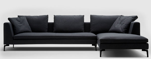 Contemporary sofa in dark blue by Camerich