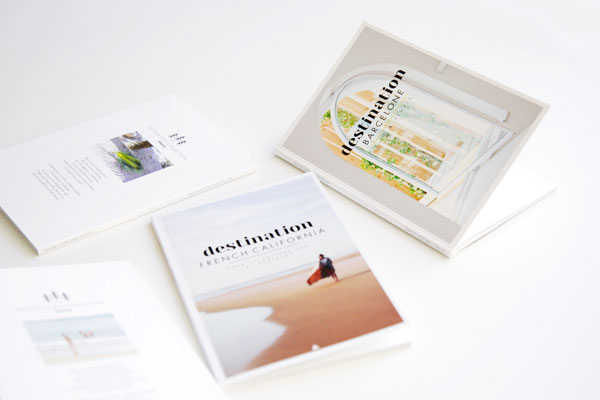 Destination Travel books designed by Caroline Gomez
