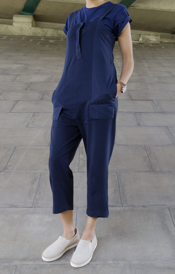Seven Boot Lane Footwear Giveaway, Blue Jumpsuit