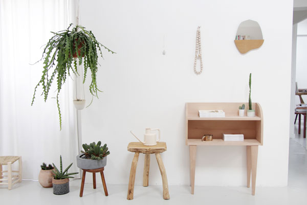 plant filled minimalist home of designer Caroline Gomez