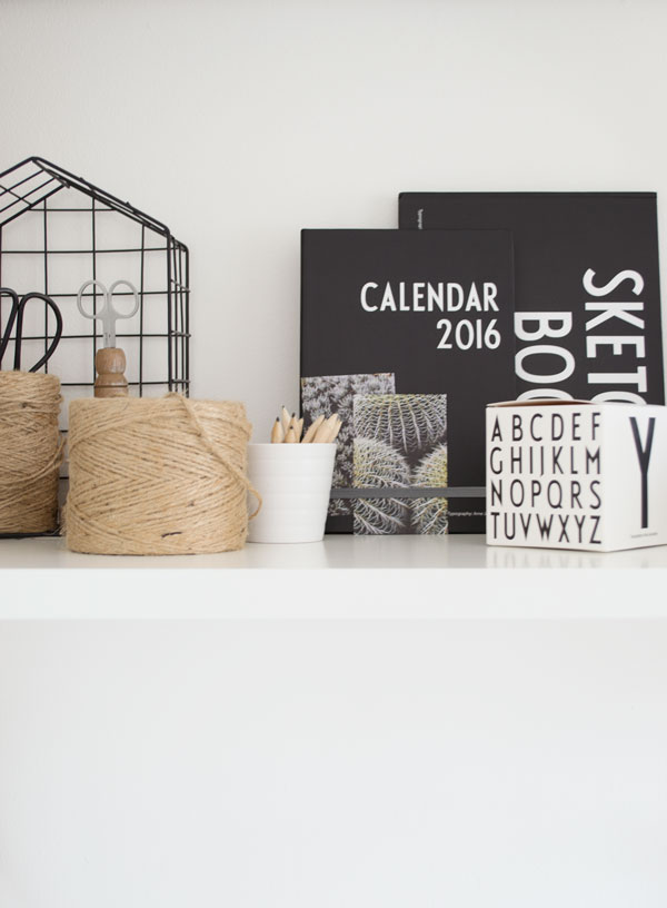 Design Letters & Friends Arne Jacobsen typography calendar sketchbook collection summer office workspace styling