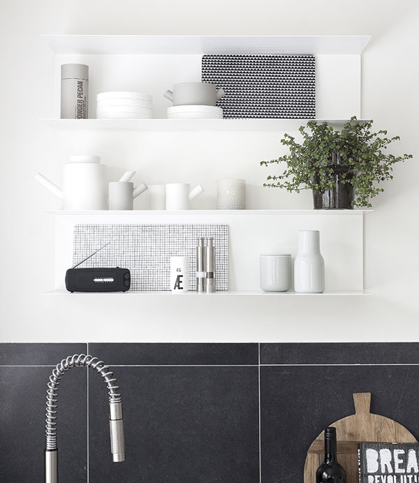 New nordic kitchen, Ikea open-shelf kitchen by Beeldsteil styling & photography