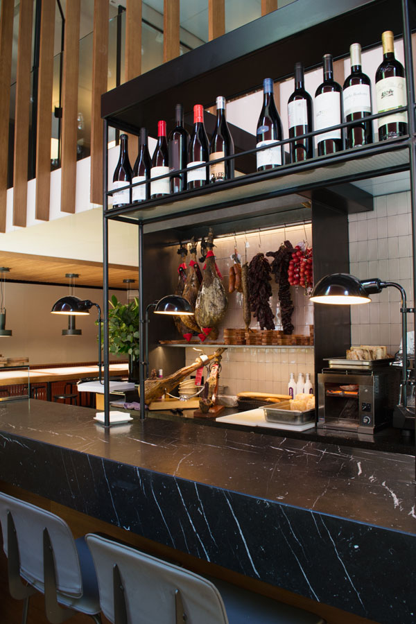 Solomillo Restaurant and Charcuterie at boutique Barcelona hotel Alexandra Doubletree Hilton