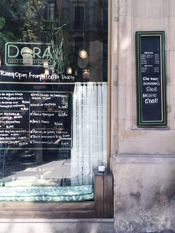 Cafe culture in Barcelona on our Sunny Design Days Spanish design tour