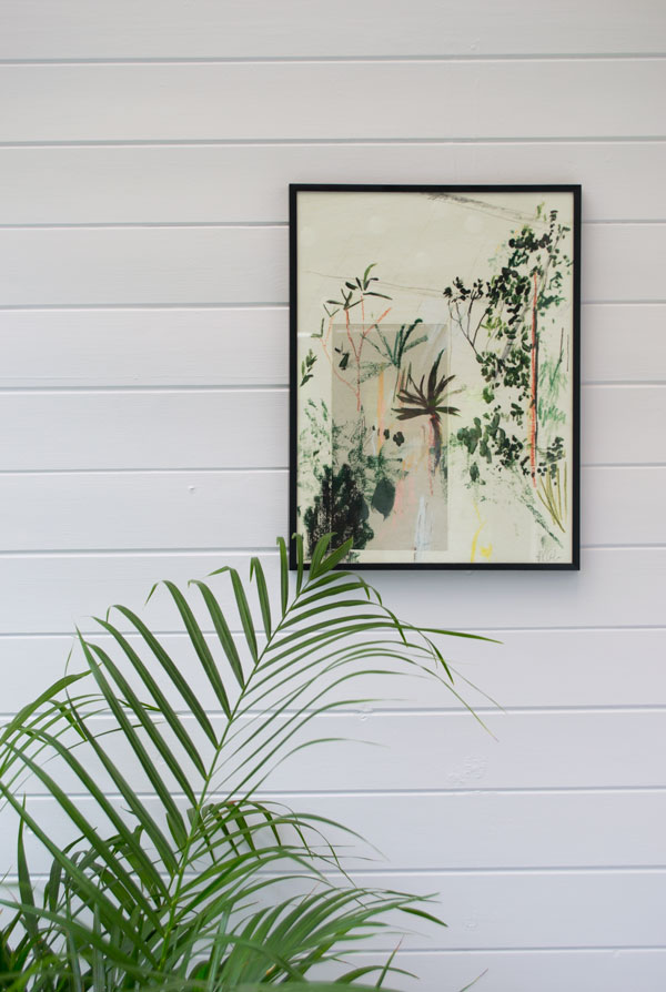 botanical, scandi sun room makeover, sunroom makeover, minimalist sunroom, garden room, Scandinavian sunroom, botanical print, Alicia Galer