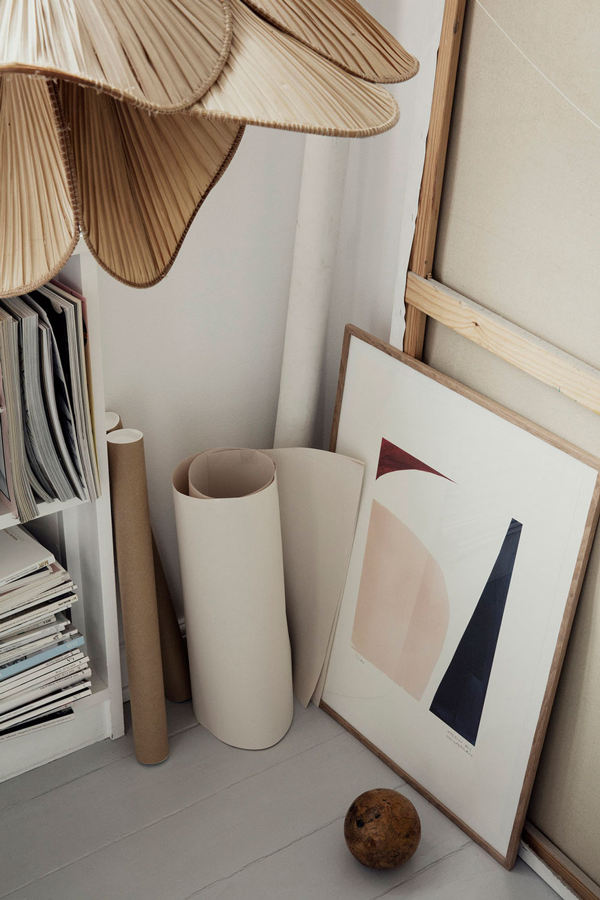 limited edition minimalist art print inspired by Barbara Hepworth, designed by Atelier by Mintstudio