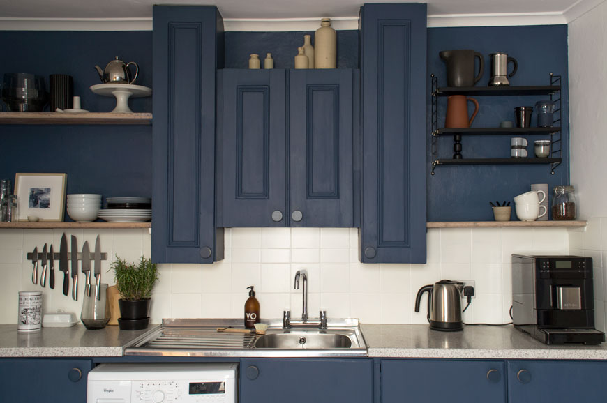 Our Nordic Blue Kitchen Before And After Reveal Curate Display Nordic Interiors And Lifestyle Blog
